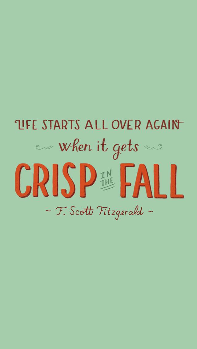 Fall Scott Fitzgerald quote iphone wallpaper background phone lock ...